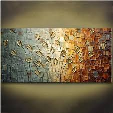 handpainted acrylic knife fl paintings modern abstract flower oil painting on canvas home decoration art pictures