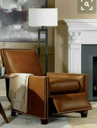 compact recliner chair. THAT Lamp And Leather Recliner Chair . Ethan Allen. Compact