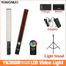 YONGNUO YN360 III Cầm Tay Băng Dính Đèn LED Video 3200K Đến 5500K Đèn Led  Video Điều Khiển Bằng Điện Thoại ứng Dụng|Đèn Chụp Ảnh