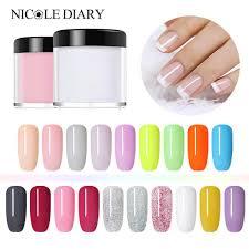 nicole diary dipping powder without lamp cure nails dip powder gel nail colorful powder natural dry diy nail art decoration 10ml malaysia