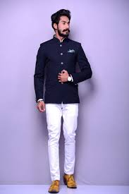 Jodhpuri Jackets Indian Designers Navy Blue Designer Jodhpuri Jacket Designer Suits For Men