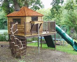 kids tree houses. Treehouse With Playground And Super-slide Kids Tree Houses
