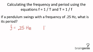 physics 4 1 3 5 calculating the frequency and period using the equations