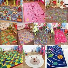 Childrens Kids Rugs Boys Girls Play Mat Bedroom Playroom Roads Baby