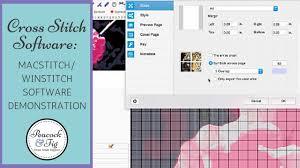 Crochet Chart Software Mac Macstitch Winstitch Cross Stitch Software Demonstration