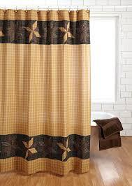 rustic bathroom shower curtains shower curtain primitive black gold brown tan star cabin rustic bathroom rustic