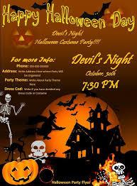 Halloween Dance Flyer Templates Halloween Party Flyer Word Templates