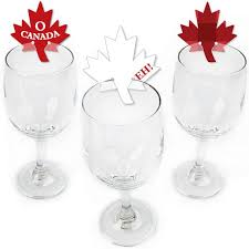 canada day canadian party wine markers happy canada day party shaped wine glass charms maple leaf drink markers wine tags set of 24