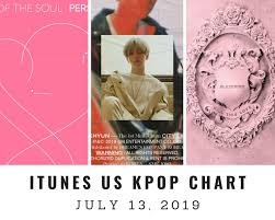 Itunes Us Itunes Kpop Chart July 13th 2019 2019 07 13