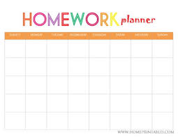 Free 9 Homework Planner Samples And Templates In Pdf Word