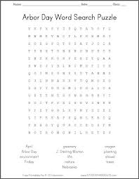 Free Printable Arbor Day Word Search Puzzle | Student Handouts