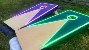 Cornhole Board Design Ideas How To Make Led Cornhole Boards