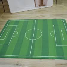wish kids rug boys children s play football pitch green
