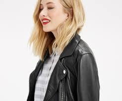 oasis leather biker jacket black 4
