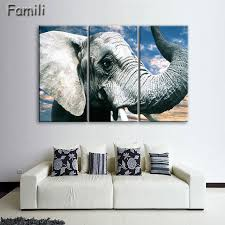 3pcs giant elephant printing canvas wall art for home decoration living room canvas prints modern painting on customizable canvas wall art with 3pcs giant elephant printing canvas wall art for home decoration