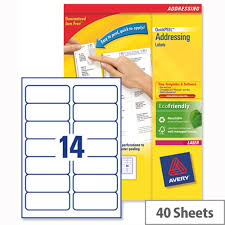 avery sheet labels avery l7163 40 laser address labels 14 per sheet 99 1x38 1mm white 560 labels