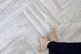 diy herringbone tile floor sunroom renovation before and after tutorial