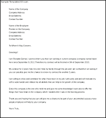 Employment Contract Cover Letter Request For Employee Contract