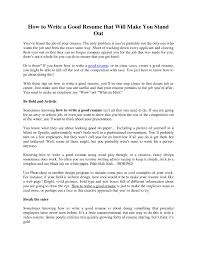 Writing A Good Resume Steps To Writing A Good Resume Camelotarticles 38
