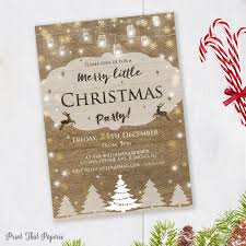 Christmas Party Invitation Rustic Invitation Holiday Invite Christmas Party Invite Rustic Christmas Party Invitation
