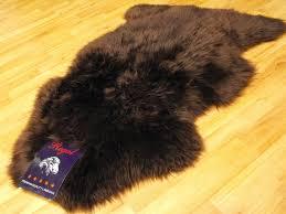 sheepskin rug brown