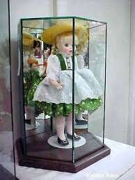 glass doll case s large cases