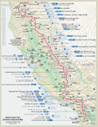 map of first half of pct  dean's pacific crest trail hike