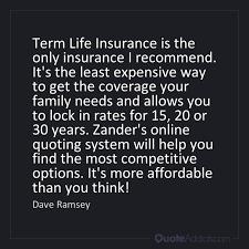 Zander Life Insurance Quote Stunning Insurance Rates Zander Insurance Rates