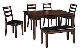 Modern dining room furniture Storage Coviar Dining Room Table And Chairs With Bench set Of 6 Ashley Furniture Homestore Modern Dining Room Furniture Ashley Furniture Homestore