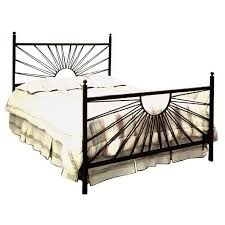rod iron bed. Delighful Iron El Sol Wrought Iron Bed  Sunburst Design GMCIB1BED  With Rod