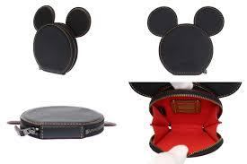 coach coin case coin purse leather black black mickey mouse disney collaboration limited sa rank