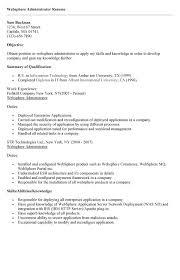 Websphere Administration Sample Resume