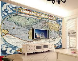 Nautical Chart Wall Mural 3d Wall Wallpaper Murals European Style Nautical Map Wall