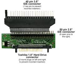 faq digrams showing the connections to convert a toshiba connections to convert a toshiba 1 8 zif connector hard drive from 1 8 connector to 2 5 connector and 2 5 connector to 3 5 ide connector diagram