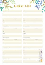 Printable Wedding Guest List Organizer 002 Template Ideas Party Guest Imposing List Google Sheets