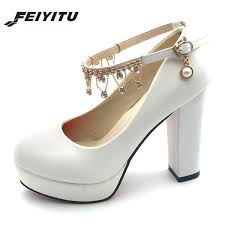 Dress <b>Feiyitu</b> Women Bridal Shoes Super High Heels Pumps String ...