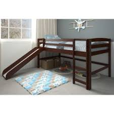 bunk bed with slide. Delighful With Brown Junior Loft Bed With Slide Twin Size Wooden Bunk Kids Play Area  Furniture In With K