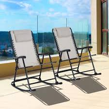 outsunny metal outdoor rocking chair