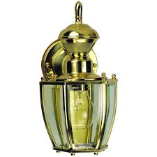 heath zenith 150 degree polished brass traditional coach lantern with clear beveled glass