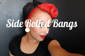 Pin Ups Hair Style front side rolled bangs pinup hair youtube 5399 by wearticles.com