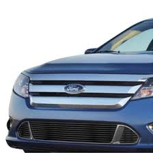 ford fusion blacked out grill. apg® - 3-pc black horizontal billet bumper grille ford fusion blacked out grill