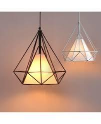 art iron diamond pendant lights birdcage ceiling pendant lamps home decorative light fixture creative restaurant