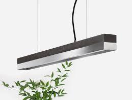 dimmable led pendant light l 92cm c2 dark stainless steel by gantlights