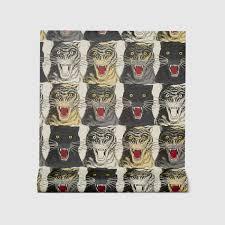 tiger face print wallpaper gucci us
