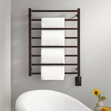 24 Miletos Wall Mount Hard Wired Towel Warmer Bathroom