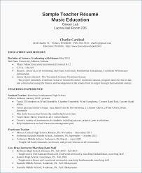 Various Resume Formats 37 Best Resume Format For Music Teacher 22