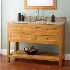 Bamboo Bathroom Sink 48 Narrow Depth Thayer Bamboo Vanity For Undermount Sink Bathroom