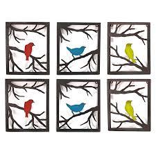 10x12 birds on branch metal frame wall