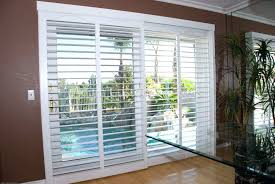 sliding glass door plantation shutters photo of custom ca united states bypass shutter system installed