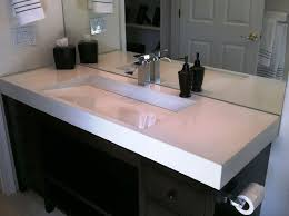 image of style trough sink for bathroom